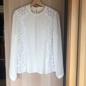 Rebecca Taylor silk and lace Blouse.